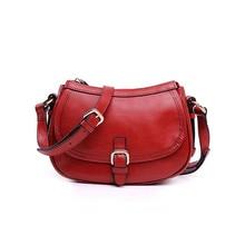 Vento marea Women Cross Body Bag Soft Genuine Leather Vintage Red Wine Handbag 2019 Casual Fashion Design Female Shoulder Purses