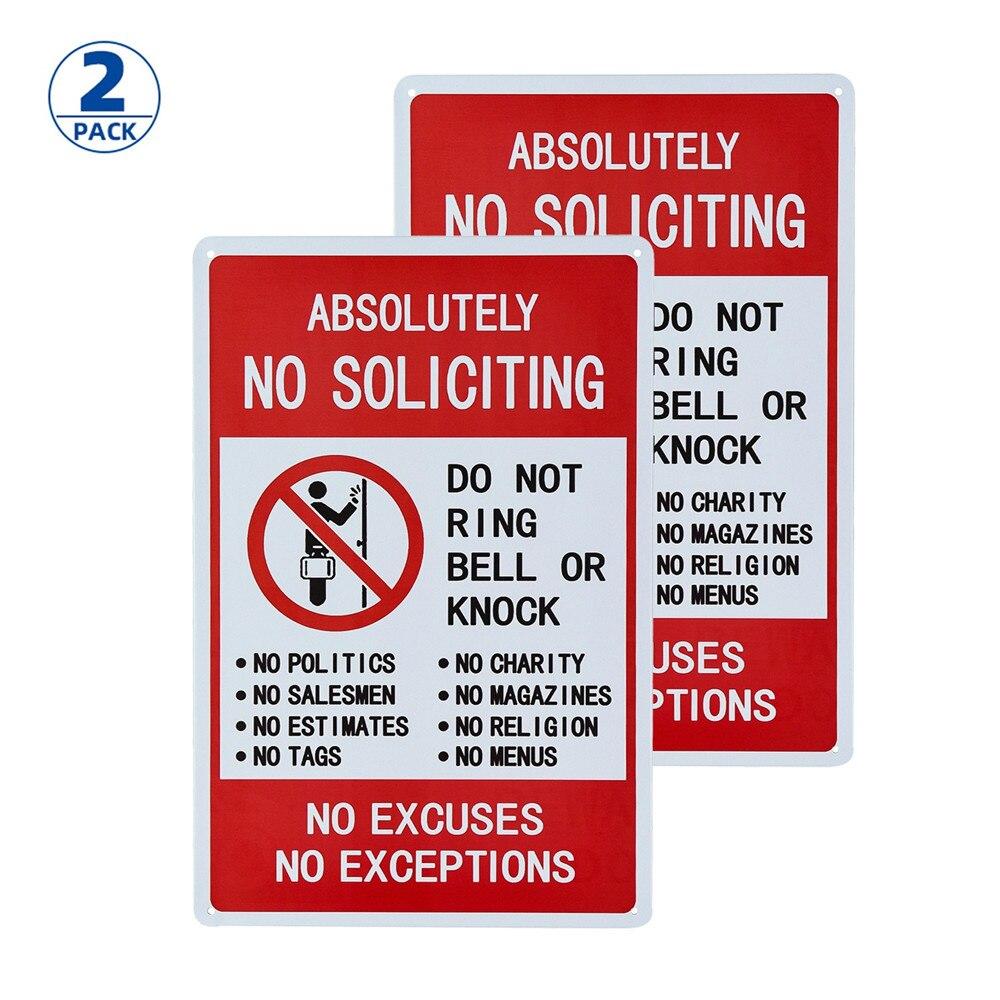 2-Pack de graciosas señales de decoración de Metal absolutamente sin solicitar ninguna...