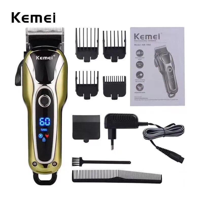Poderoso salón Clippers Kemel de Kamei profesional Kmei Trimmer ¡Kimei barbería Pro máquina Keimei Barbero tienda Shaver Kemei