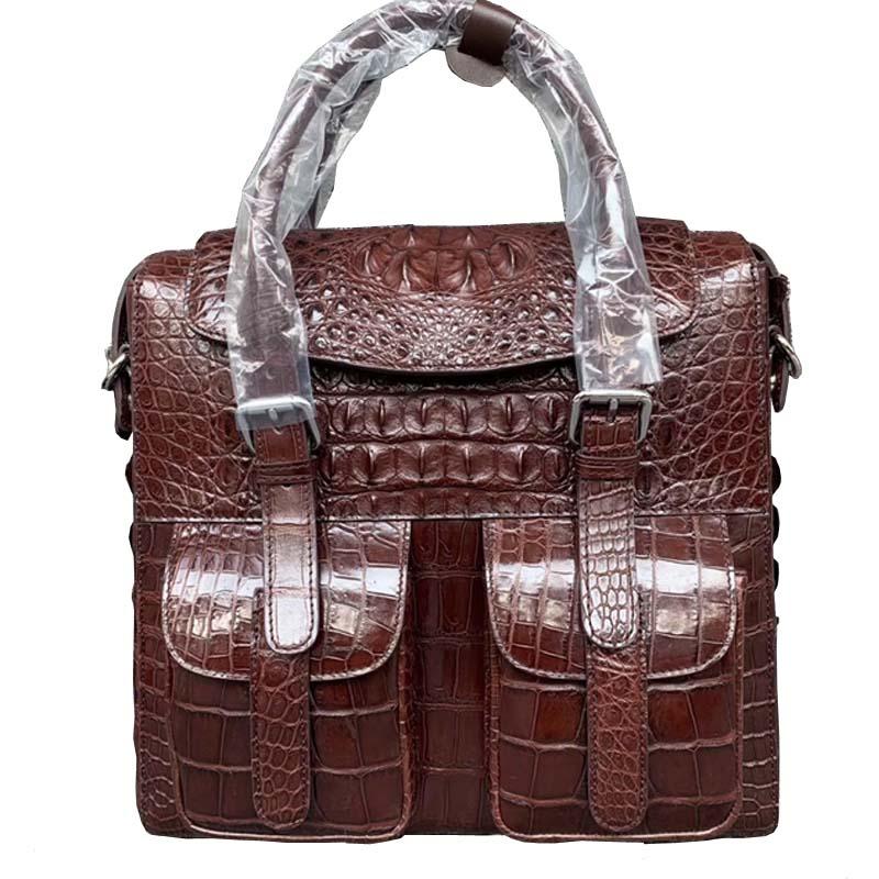 wanexing new  Thailand  crocodile leather male bag men briefcase  leisure  business  handbag  Single shoulder bag  male bag