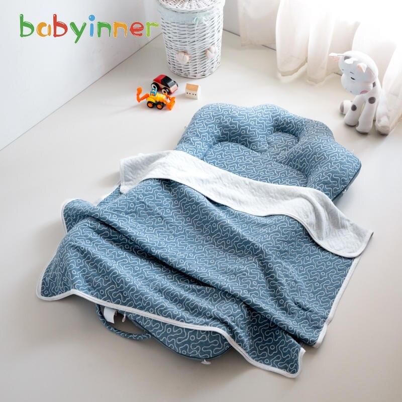 Babyinnner Портативные Детские кроватки, складывающиеся детские кроватки для путешествий, мягкие хлопковые детские кроватки для малышей, детск...