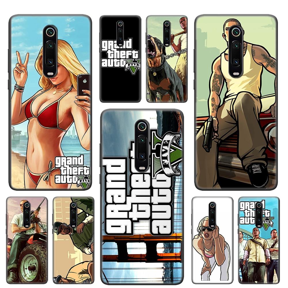 Мягкий чехол rockstar gta 5 Grand Theft для Redmi Note 8T 7 6 8 K20 Pro Redmi 6 Pro 6A 7 7A 8 8A