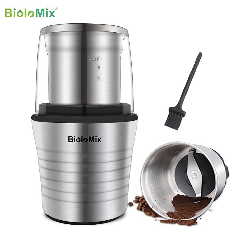 2-в-1 влажные и сухие двойные чашки 300 Вт электрические специи и кофемолка из нержавеющей стали тела и мельницы лезвия
