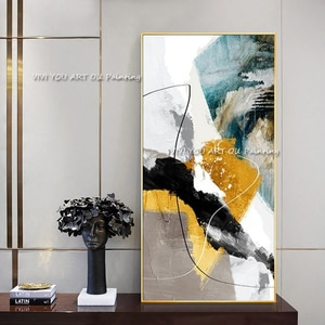 Modern Abstract black white Oil Painting on Canvas Abstract Textured Wall Art Pictures for Living Room Home Decoration Drawing