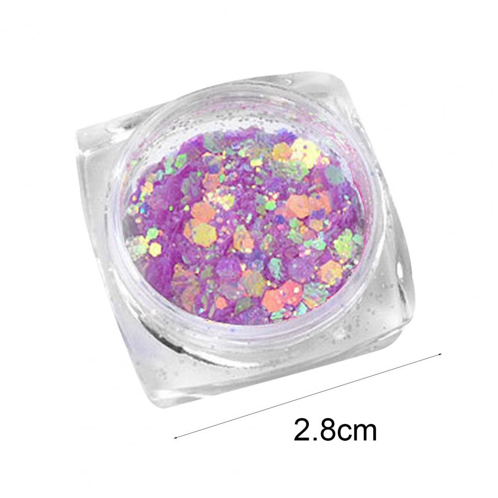 Glitter Powder UV Sensitive Fadeless Metal Lightweight Nails Art Decoration for Beauty