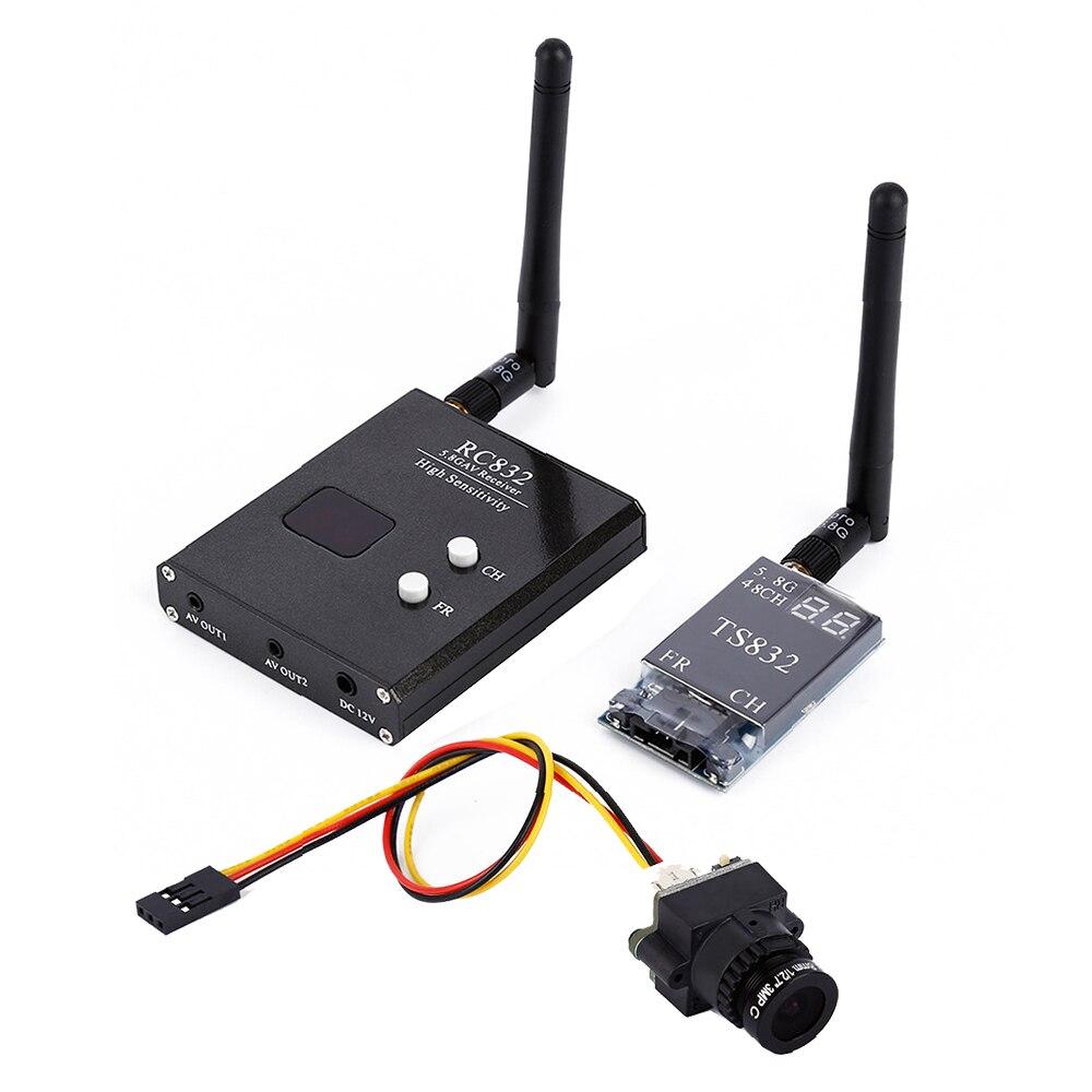 High quality 48CH 5.8G 600mw 5km Wireless AV Transmitter TS832 +RC832 Receiver +1000TVL camera for F