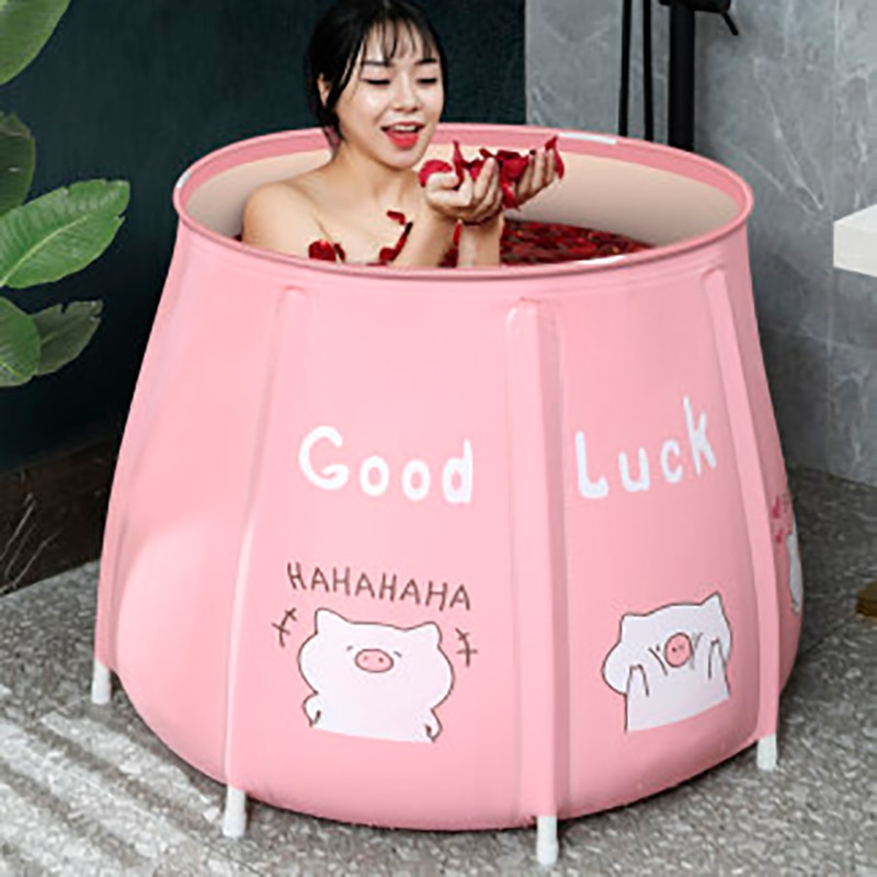 Bañera portátil plegable Cubo de baño plegable bañera grande para adultos bañera de bebé aislamiento de la piscina de la familia separado baño bañera de SPA baby bath tub sauna bath tub