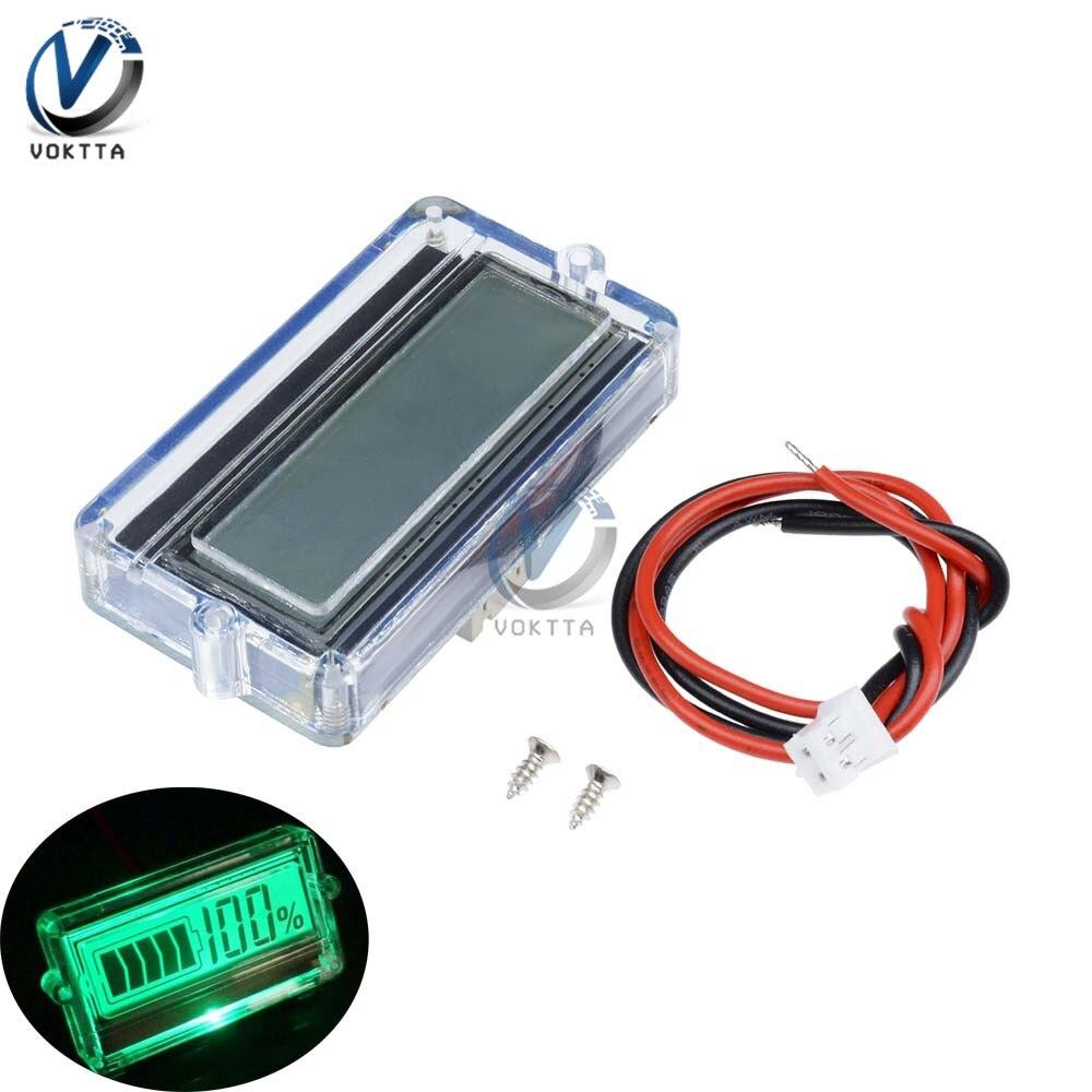 BMS 3S 12 в 24 в 48 В литиевая батарея индикатор емкости тестер батарей вольтметр измеритель напряжения с водонепроницаемый чехол в виде ракушки