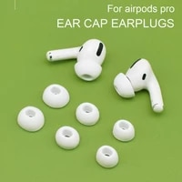1 pair of earplug caps airpods pro replaceable earplug sleeves are soft comfortable non slip dust proof silicone earplugs