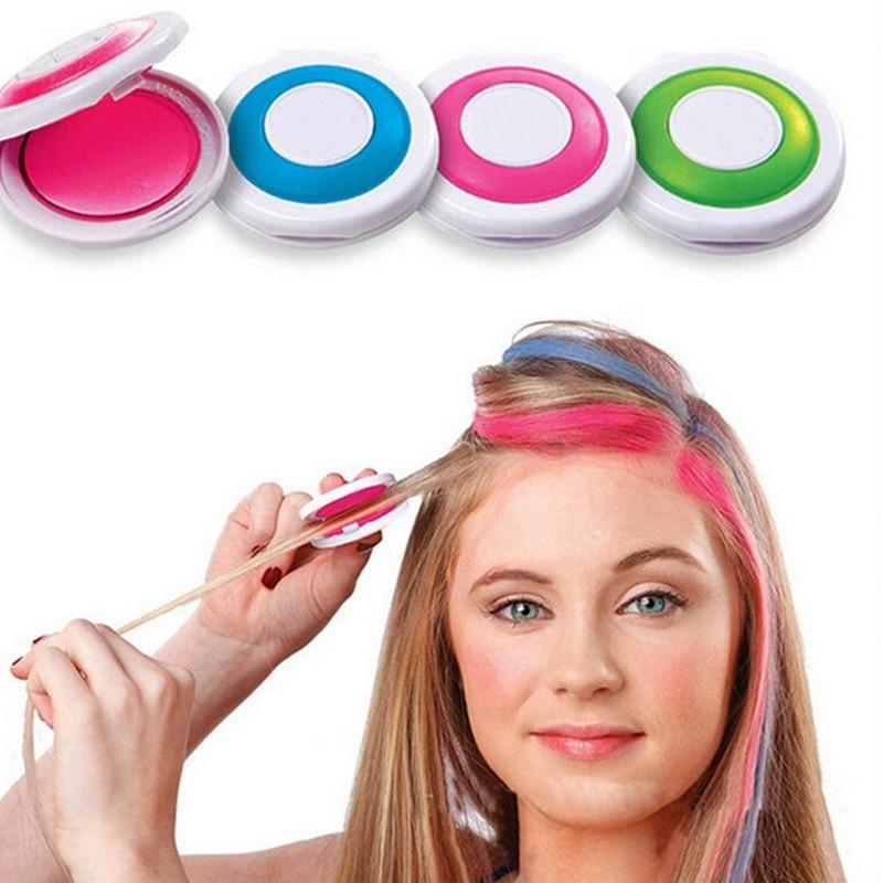 Фото - Хит продаж, 4 цвета, краска для волос, меловая пудра для волос, Европейская Временная Краска для волос, краска для волос, мягкая краска для сал... краска
