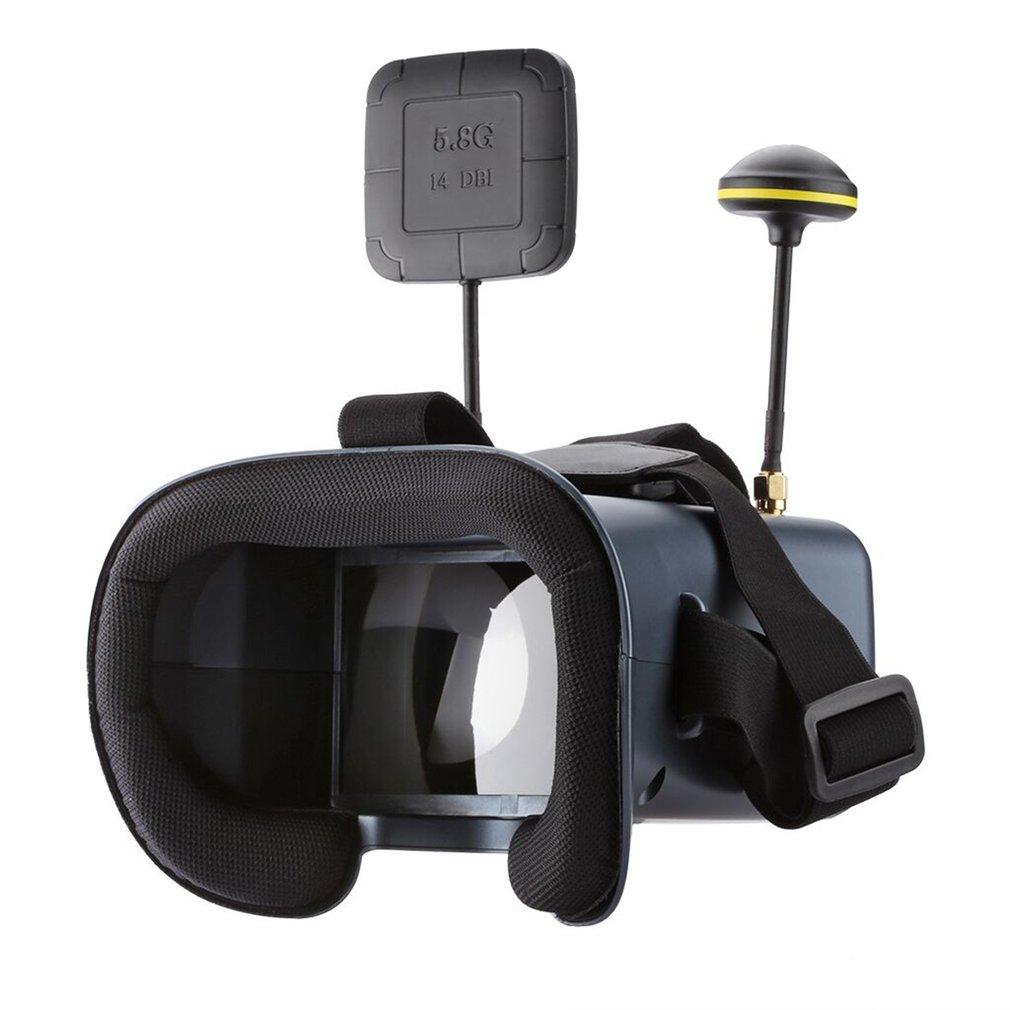 Gafas VR LS-008D FPV 5,8G, gafas de alta calidad, con batería de 40 canales 2000mA, DVR, diversidad para RC modelo 92%, lentes transparentes, Hobby