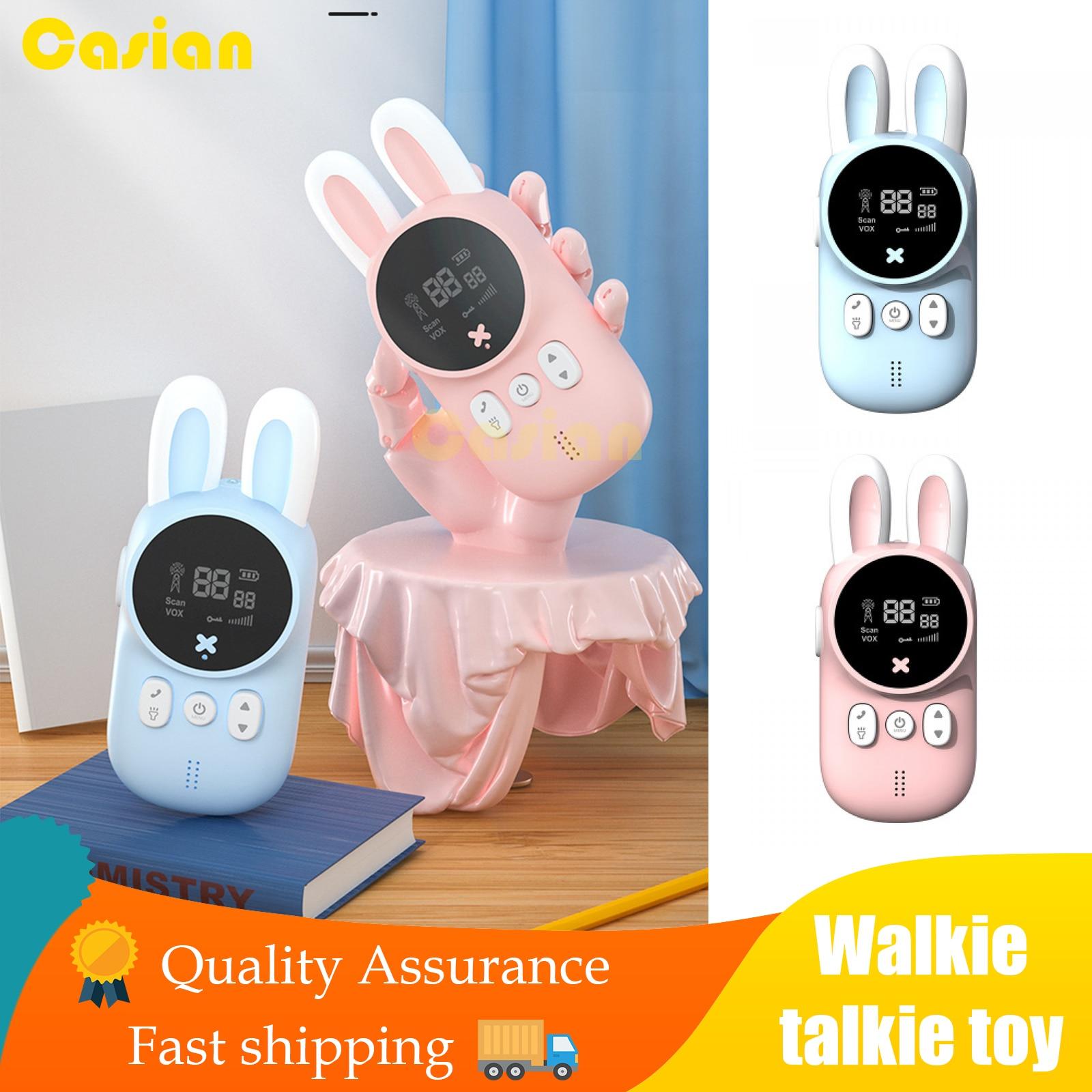 2pcs/Set Children's Walkie Talkie Kids Electronic Spy Gadgets Handheld Transceiver 3KM Range UHF Radio Interphone Toys For Boys