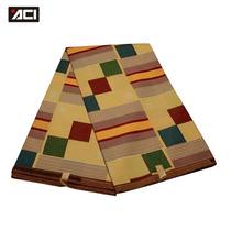 ACI nouvelle mode Tissu Africain Kente 6 Yards/pièce Ankara Tissu Africain véritable cire imprime Tissu Africain Ghana cire imprime Tissu