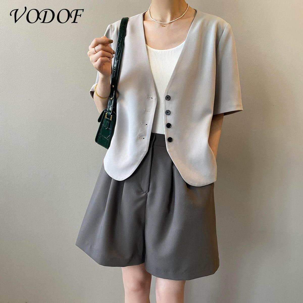 Женская футболка VODOF, женская уличная одежда, стильная модная одежда, топы, костюмы, футболки