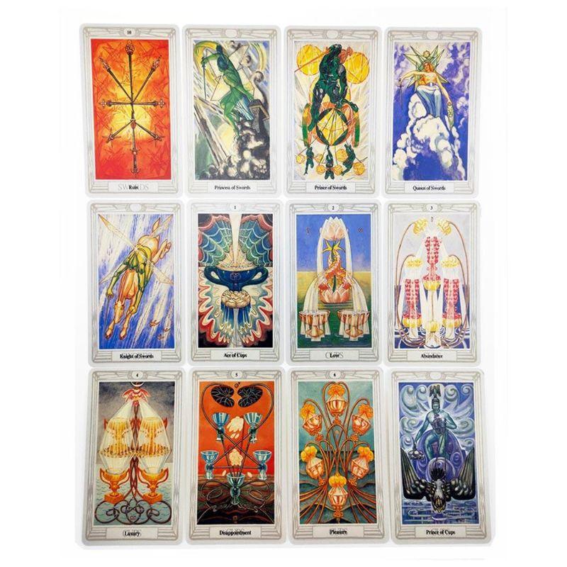 Thoth Tarot 78 cartas Deck misterioso oráculo de adivinación juego de cartas de juego 094C