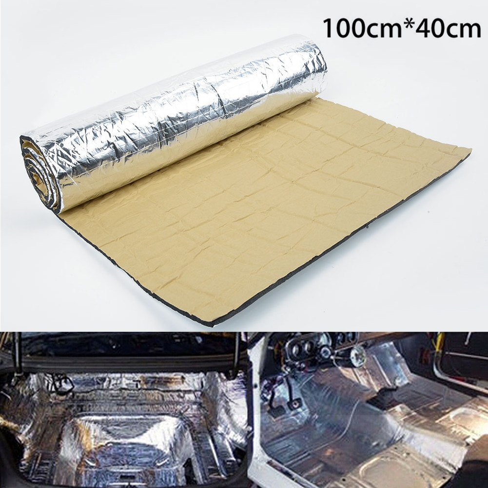 1Roll Car Sound Proofing Deadening Vehicle Insulation Closed Cell Foam Automobile Universal Soundproof Mat Pad