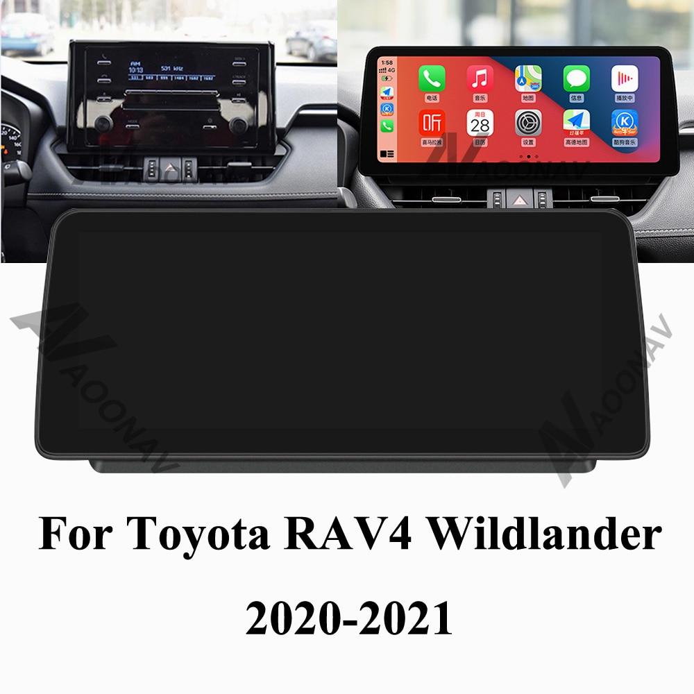128 GB أندرويد 10 راديو السيارة لتحديد المواقع لتويوتا RAV4 ويلدلاندر 2020 2021 سيارة مشغل وسائط متعددة الملاحة ستيريو Autoradio 4G الشاشة