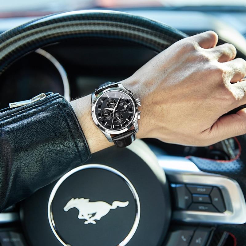 Carnival Luxury Brand Fashion Automatic Watch Men Waterproof Luminous Military Calendar Mechanical Wristwatch Relogio Masculino enlarge