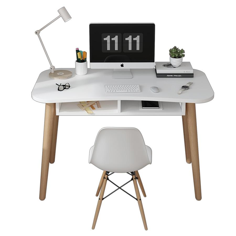 Escritorio de ordenador de casa sencillo nórdico Ins, escritorio de estudiante, oficina, dormitorio moderno, mesa pequeña de apartamento, escritorio blanco