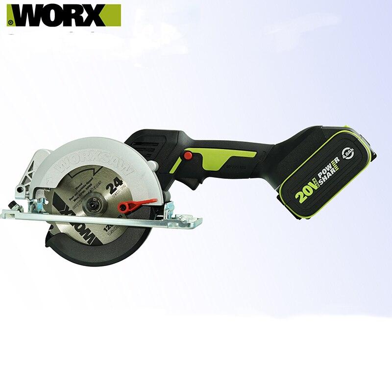Worx أداة المهنية WU533 فرش السيارات 115 مللي متر منشار دائري لاسلكي 45 /90 درجة قطع بطارية Powershar
