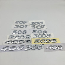 For 206 207 301 306 307 308 406 408 508 2008 3008 4008 5008 Emblem Tail Rear Logo Car Accessories