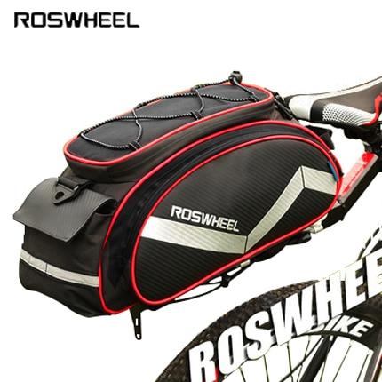 Roswheel велосипедная сумка, сумка-седло, многофункциональная 13л велосипедная задняя Сумка для велосипеда, велосипедная Bicicleta корзина, сумка для багажника, сумка на плечо