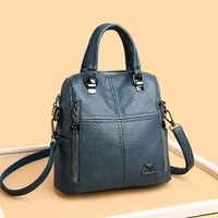 2020 new high quality leather backpack women shoulder bags multifunction travel backpack school bags for girls bagpack mochila