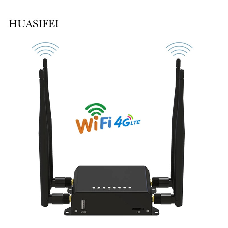 Фото - HUASIFEI 4g wifi router  4g sim card Wifi MT7620A Vpn router latest 4G LTE Sim card OpenWRT router 4antenna 1 Micro SD card slot huasifei 4g dual card multi mode intelligent 1200m 3g4g lte dual sim card router openwrt l2tp router wifi modem router with sim