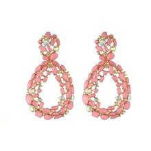 Luxury crystal earrings for women rhinestone statement earrings 2020 big earings glamorous fashion accessories