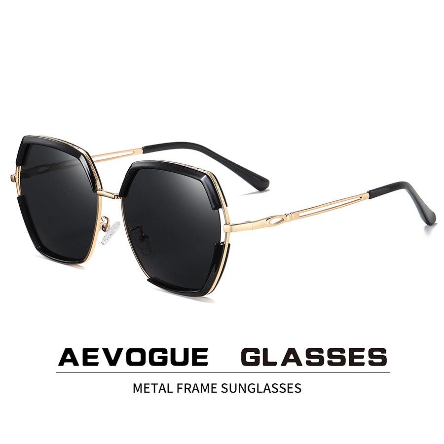 Aevogue novo polígono feminino retro clássico moda polarizada óculos de sol ao ar livre óculos de condução marca design uv400 ae0836