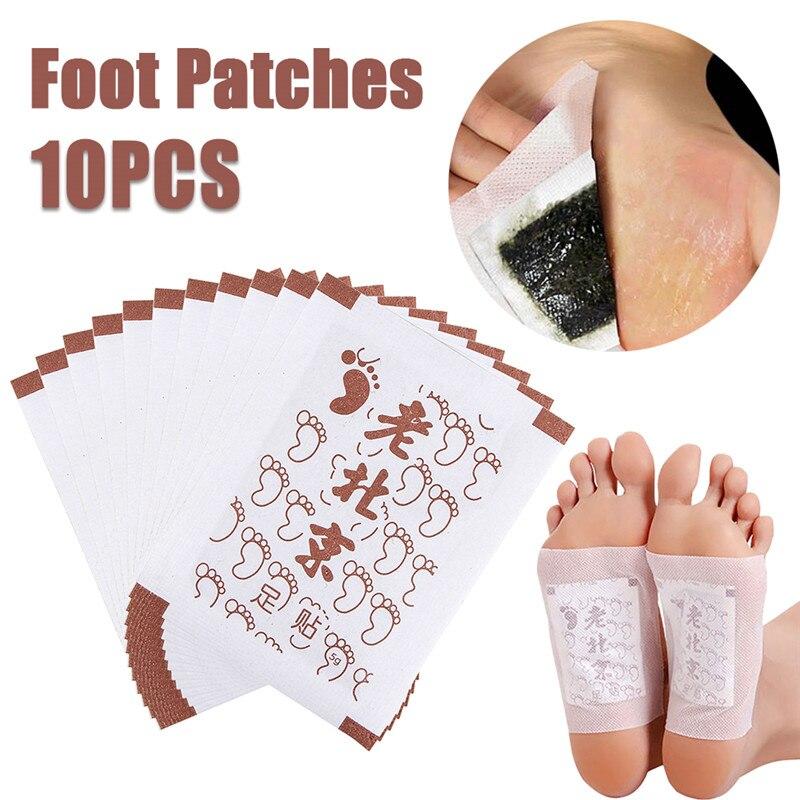 10 pçs desintoxicação pé almofadas corpo desintoxicação pé remendo pés cuidados emagrecimento velho pequim pé remendo gengibre orgânico desintoxicação pés limpeza