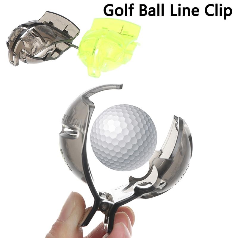 1PC Golf Scribe Accessories Supplies Transparent Golf Ball Green Line Clip Liner Marker Pen Template