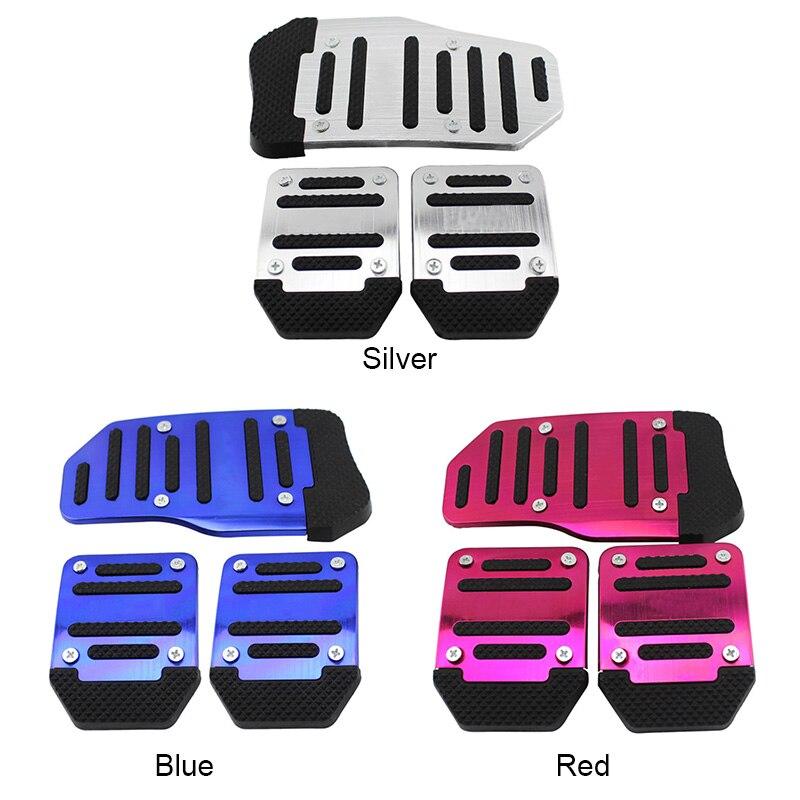 3 unids/set Universal de aluminio Manual de transmisión antideslizante Kit de cubierta de Pedal de coche estilo OE88