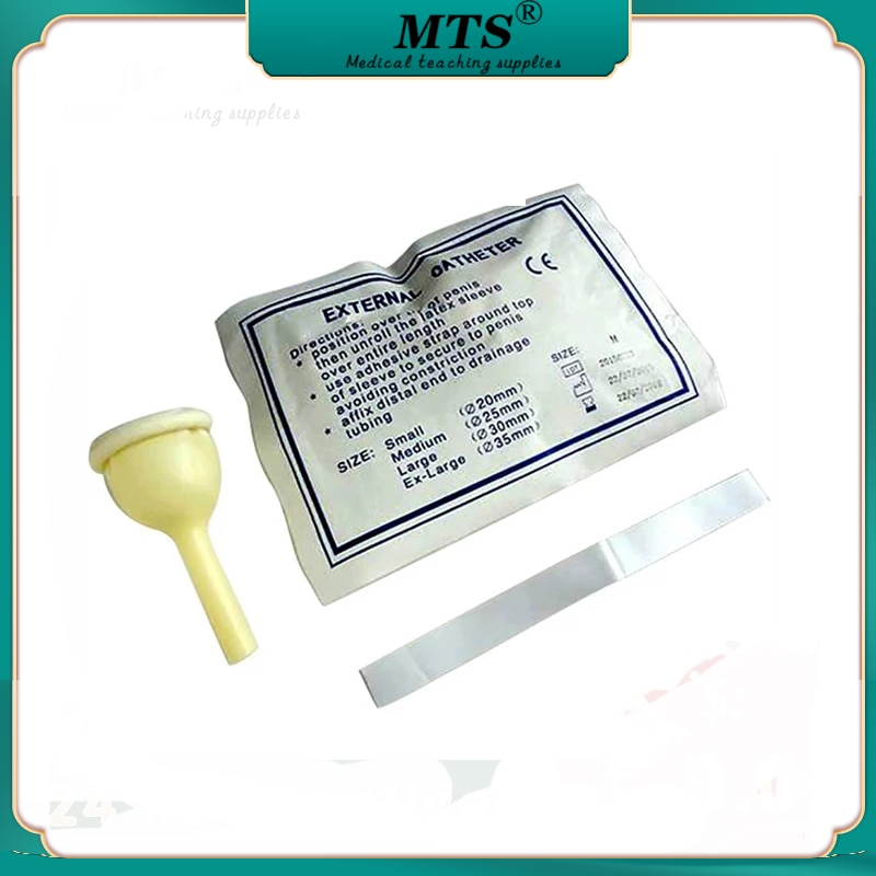10pcs male external catheter single use disposable urine collector Latex urine bag pick urinal bag 20mm/25mm/30mm/35mm