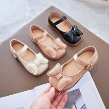 Childrens Leather Shoes Girls Kids Bow Soft Bottom Princess Shoes Children Dance Performance Shoes C