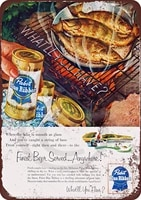 amelia sharpe vintage retro collection tin signs1954 pabst blue ribbon and fishingwall decoration poster home bar re