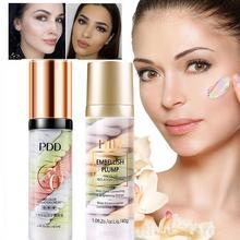 Fond de maquillage tricolore arc-en-ciel faire pré-lait Base crème anti-cernes Pores invisibles éclaircir le visage