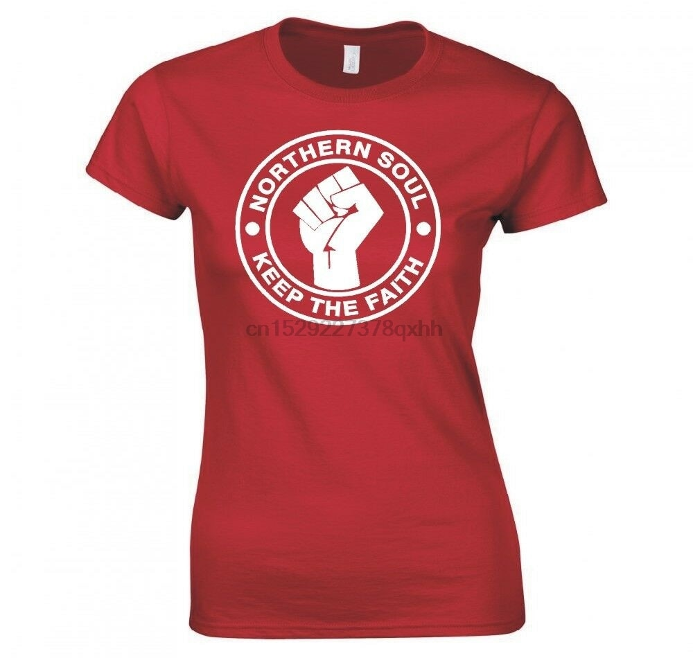 Camiseta para senhoras da fé do norte