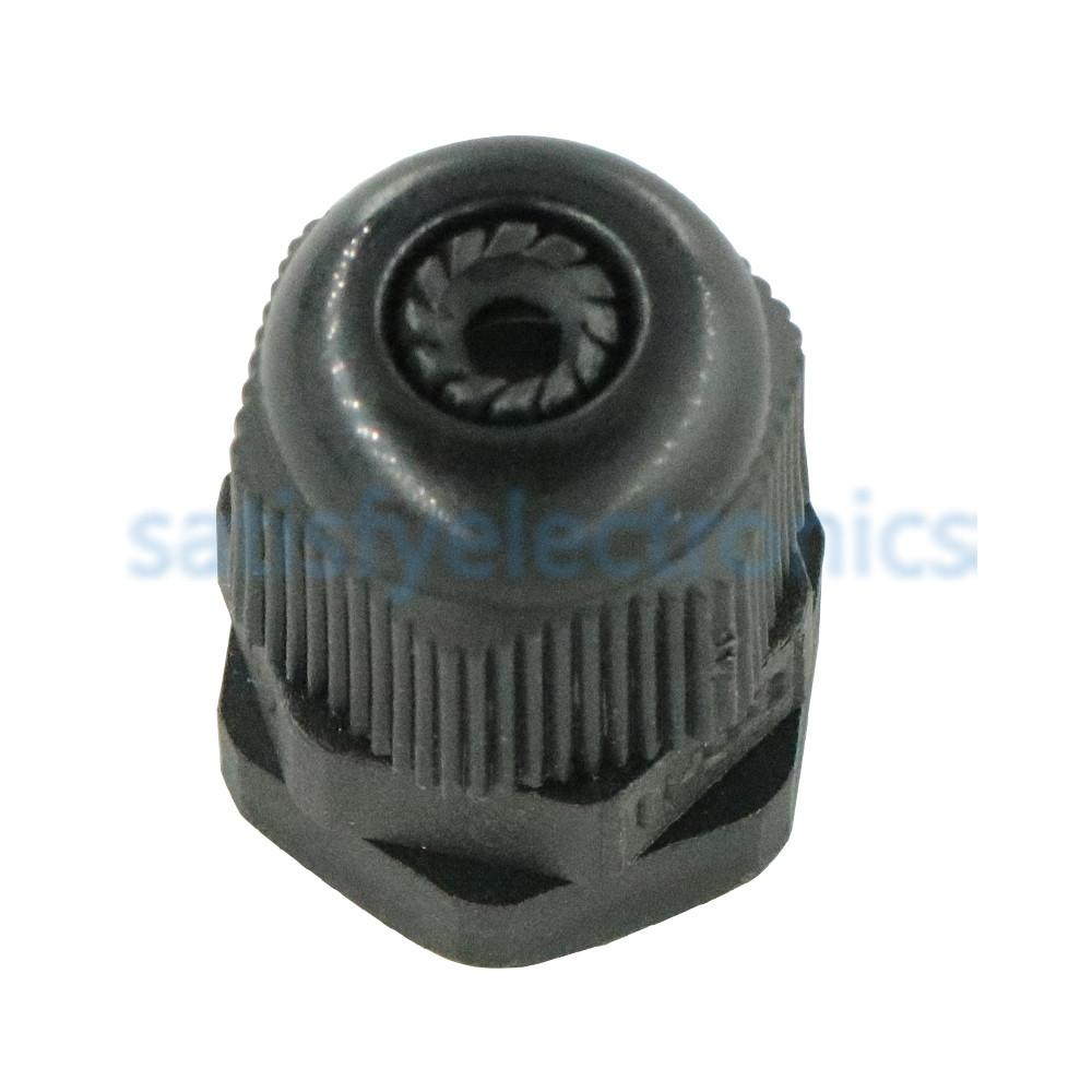 10 Uds. Negro Nuevo PG7 Cable Gland conector Nylon plástico impermeable para 3-6,5mm Cable CE de alta calidad con anillo de goma