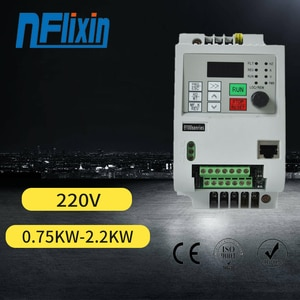 Clearance sale!VFD Mini 1.5kw 2.2kw  220V 1 Phase input VFD 3 Phase Output Frequency Inverter For water pump