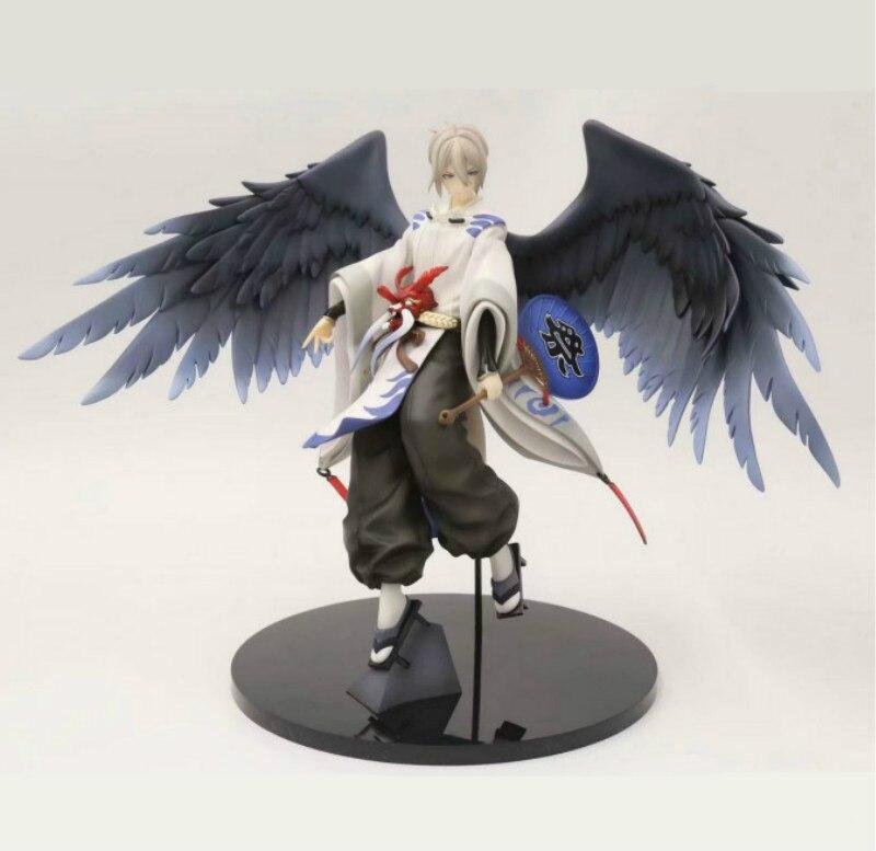 25 см фигурка witth Two красивые серые крылья Onmyoji Daitengu Onmyoji Ootengu японская аниме фигурка ПВХ Коллекционная модель игрушки
