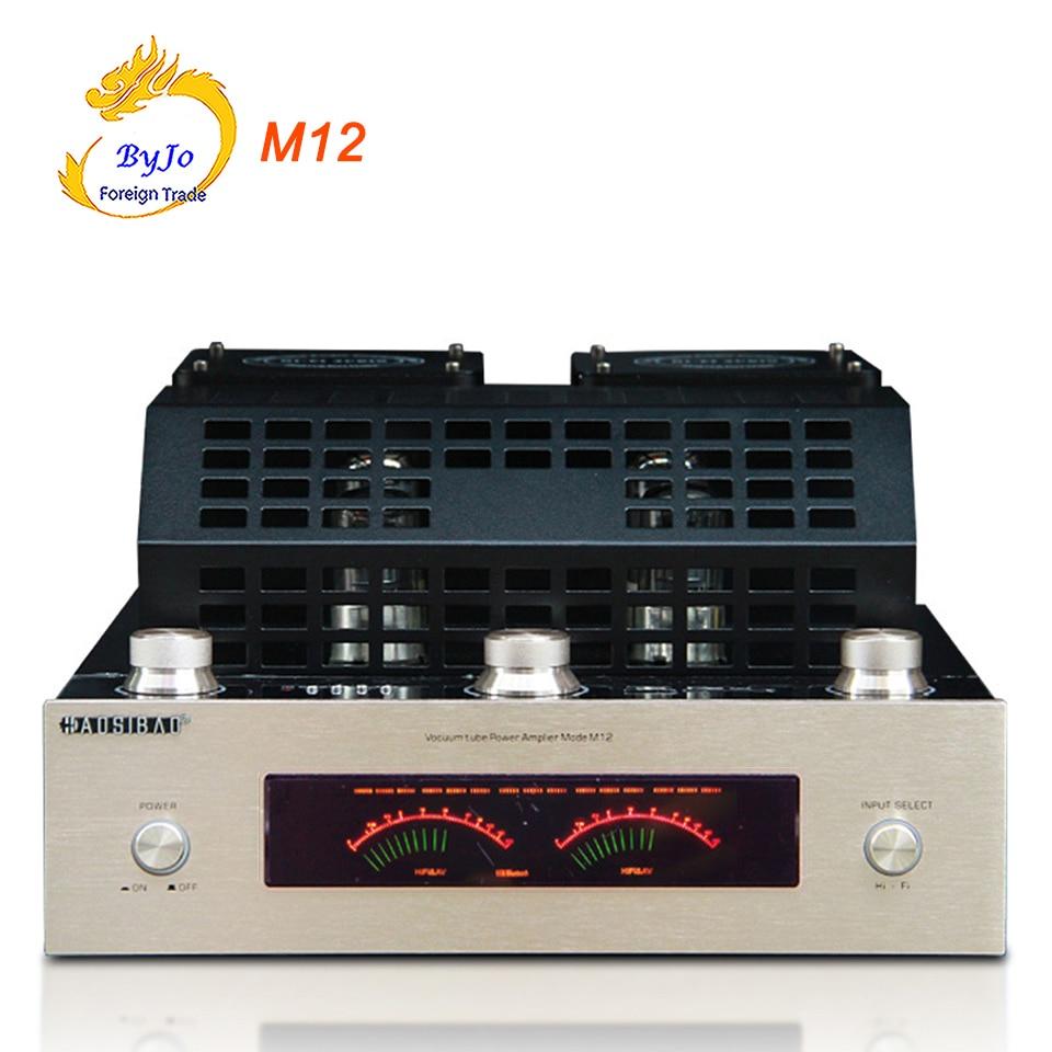 M12 Hi-Fi Bluetooth вакуумная трубка стерео усилитель Поддержка USB аудио усилитель мощности бас hifi выход 2 Поддержка 220 В или 110 В