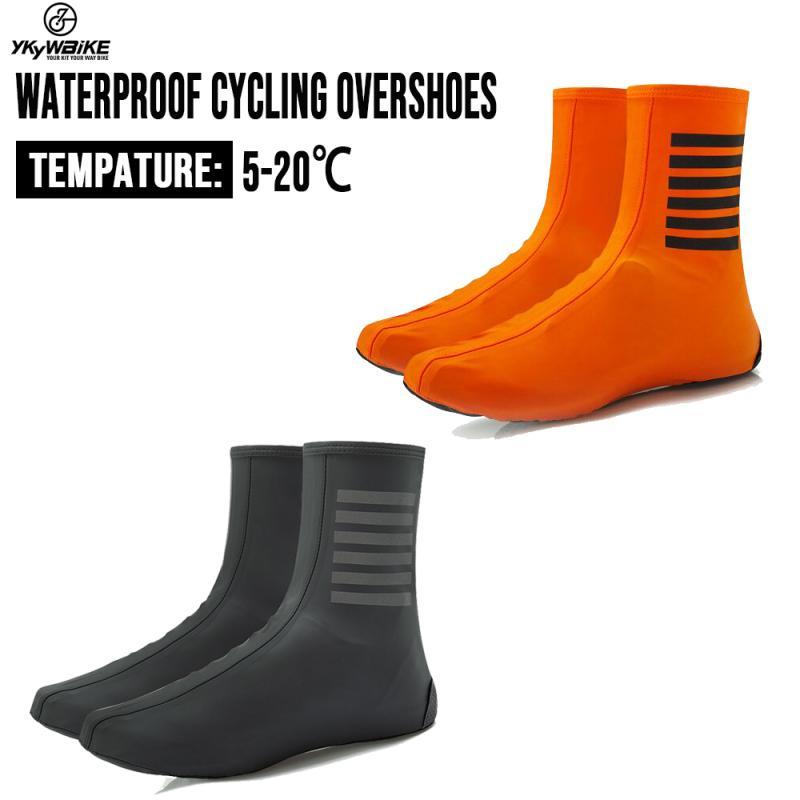 YKYWBIKE مقاوم للماء الدراجات الجرموق دراجة أحذية يغطي دراجة عاكسة يندبروف دراجة الطريق الدفء قفل دراجة حامي