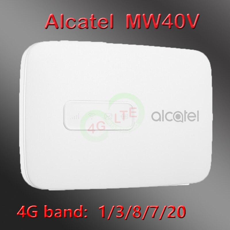 Desbloqueado Alcatel LinkZone MW40V LTE Hotspot MW40 inalámbrico 4G Router 4G LTE WiFi Hotspot 150Mbps mw40v