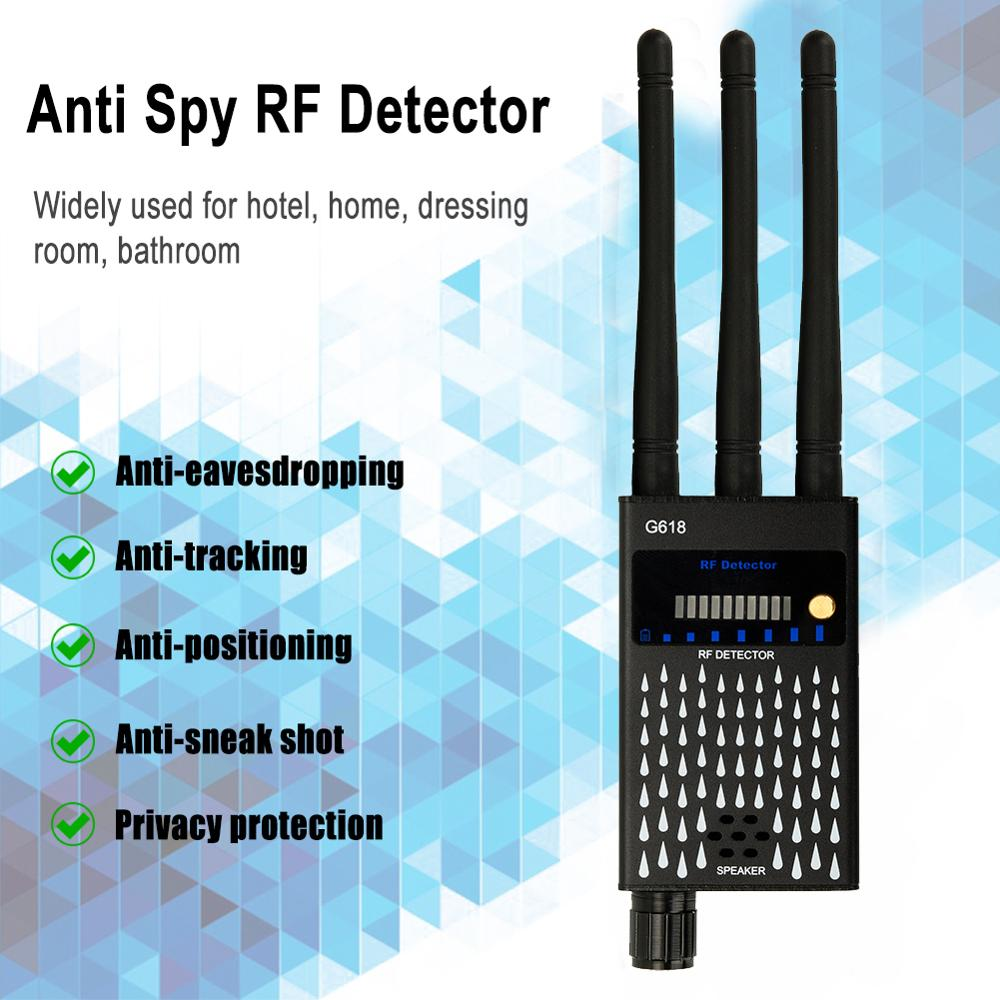 Anti Candid Camera RF Signal Detector Anti-Spy tapping Anti Detector Eavesdropping Pinhole Audio Bug GPS GSM Device Finder enlarge