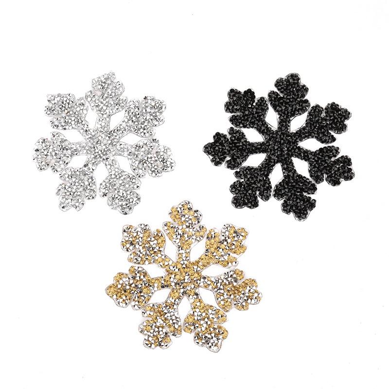 Parches de diamantes de imitación con diseño de copo de nieve, parche DIY para bolsa de zapatos, pegatina para ropa, accesorios de ropa, transferencia de diamantes de imitación G