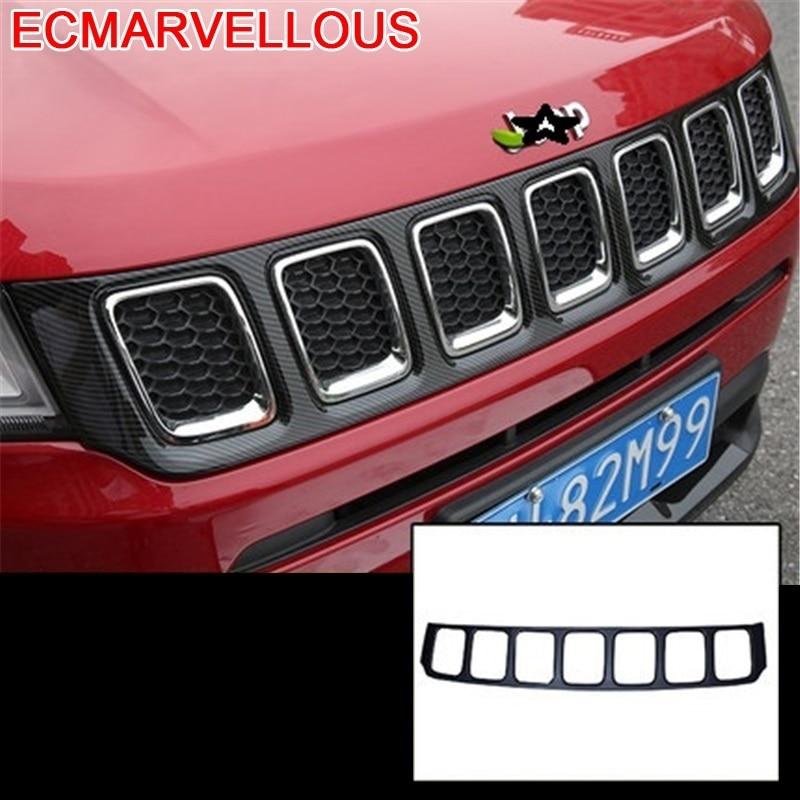 Faro de ala de espejo para puerta de coche, faro decorativo para coche, protector de cromo para Estilismo de coche, accesorio 17 18 19 para JEEP Compass