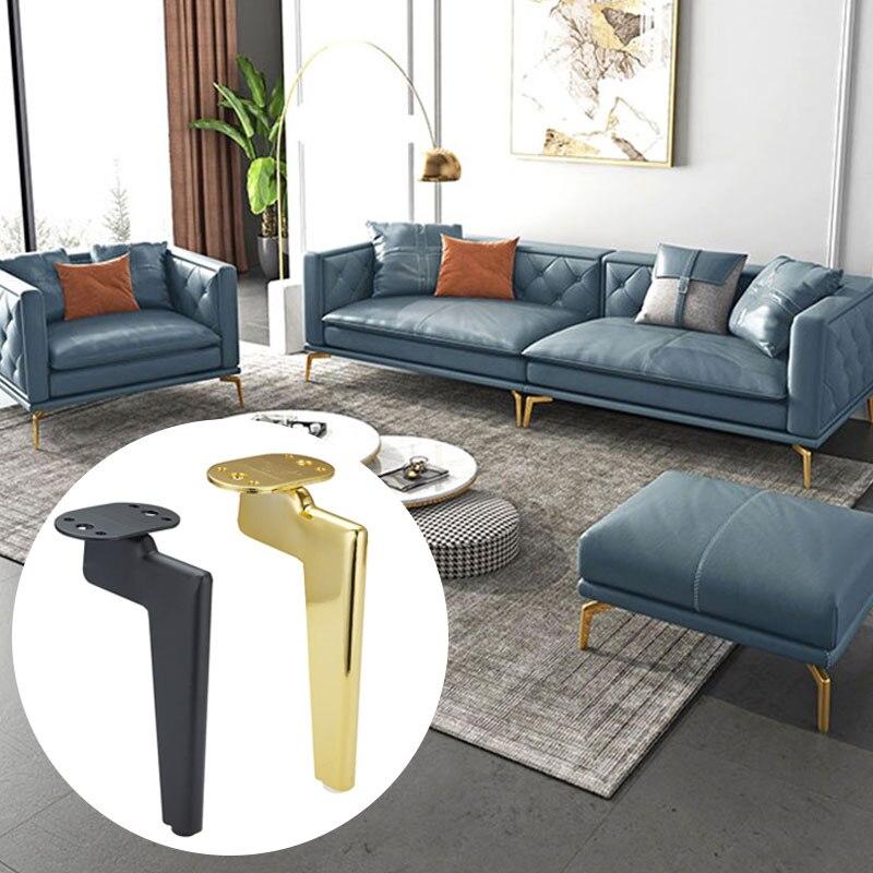 1 шт. металлические ножки для мебели, подставка для шкафа, детали для дивана, журнального столика, черные титановые золотые настольные Шкафы ...