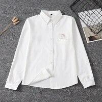 2021 girls jk sailor suit tops long sleeve white shirt japanese school uniform for school dress business work uniforms for women
