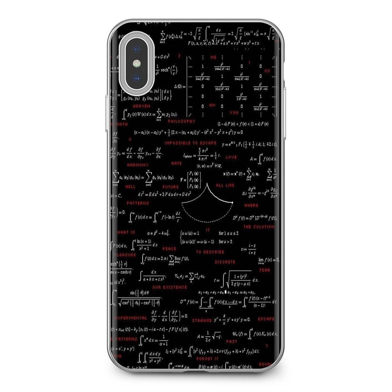 De silicona cubierta de la cáscara de las fórmulas matemáticas Formul matemáticas para Samsung Galaxy J1 J2 J3 J4 J5 J6 J7 J8 Plus 2018 de 2015 de 2016 a 2017
